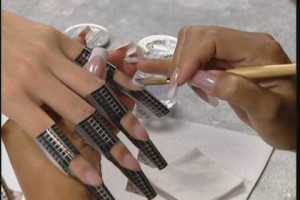 аквариумный дизайн ногтей- технология