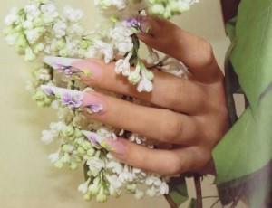 роспись ногтей в домашних условиях