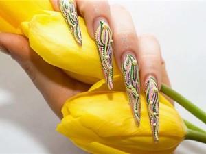 техника китайской росписи ногтей