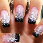 Сверкающий и яркий дизайн ногтей