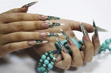 дизайн ногтей с блестками стразами