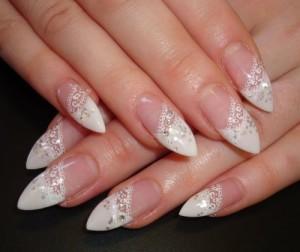 свадебный дизайн ногтей с кружевом