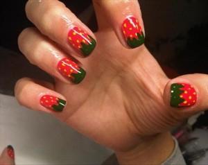 фруктовый маникюр на короткие ногти