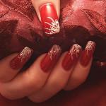 Варианты красного дизайна ногтей
