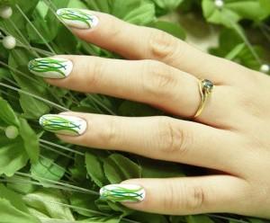 идеи зеленого маникюра