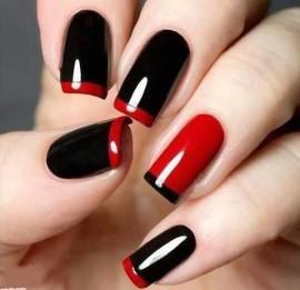 френч черно красный фото