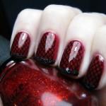 Чёрно-красный дизайн ногтей