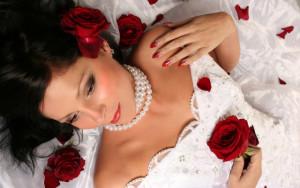 свадебный красный маникюр