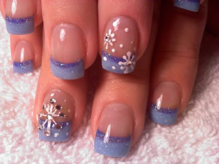 синий френч со снежинками