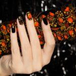 Хохлома – современная старина на ногтях