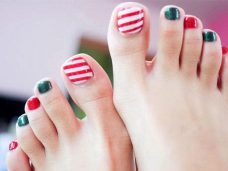 Рисунок на ногтях на ногах в домашних условиях для начинающих фото