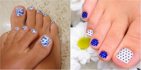 фото рисунки на ногтях ног