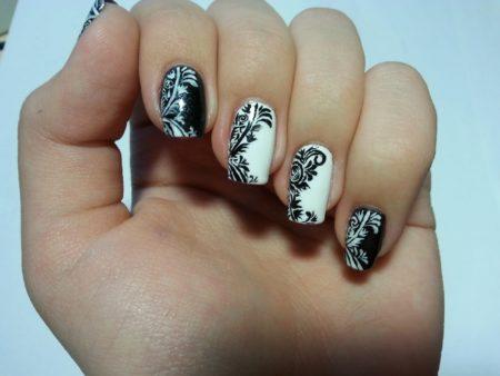 узоры на ногтях лаком