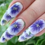 Художественный маникюр: рисуем на ногтях акварелью