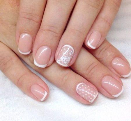 рисунки лаком на коротких ногтях