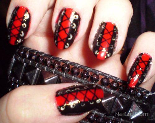 корсет на ногтях