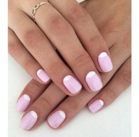 розовый френч с лунками