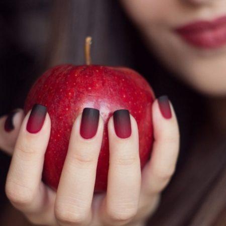 черно-красный матовый омбре