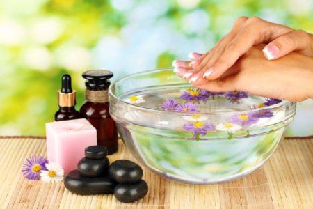 ванночка для рук с травами