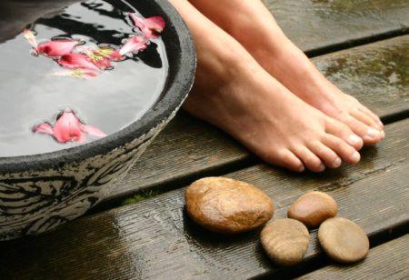 ванночка для ног от трещин
